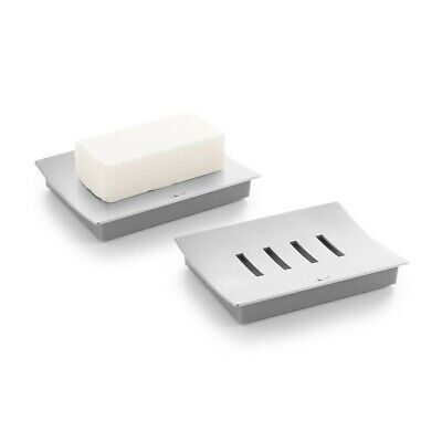 40101 ZACK Abbaco Soap Dish 4.13 x 4.13 In Stainless Steel