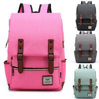 Neu Segeltuch Damen Backpack Rucksack Handtasche umhängetasche Studenten Tasche