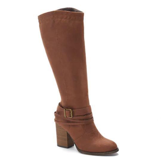 La venta      Nuevo Con Etiquetas Para Mujer Zapatos botas de texto tan alto Med Elegir Talla Cognac  Vuelta de 10 dias