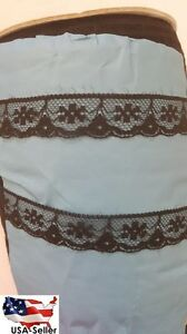 """WHOLESALE roll 400 yards Black Scalloped Narrow Floral EDGE Lace Trim 3/4 """""""