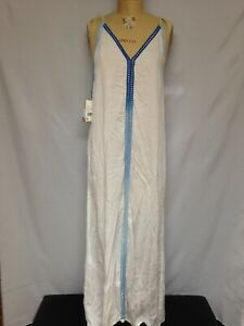 9274ad73a1 Raviya Crochet-Trim Maxi Cover-Up Dress 75088 White Large NWT | eBay
