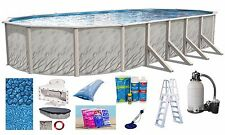 """15'x24'x52"""" Ft Oval MEADOWS Above Ground Steel Wall Swimming Pool & Package Kit"""