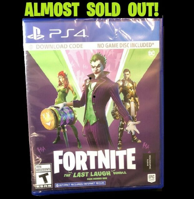 FORTNITE: Last Laugh Bundle Sony PS4 (Code in Case) - NEW  ALMOST SOLD OUT!