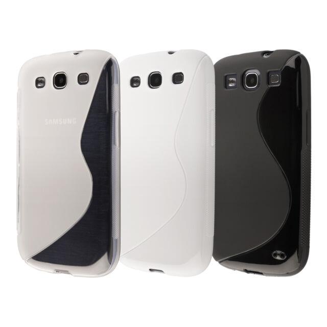 3in1 Set TPU Case Cover Schutzhülle hülle für Samsung Galaxy S3 i9300 NEO i9301