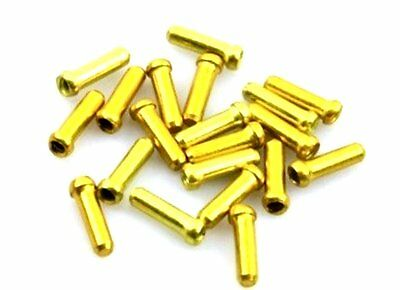 gobike88 Alligator 1.8mm gold inner cable end cap, 20 pieces per set, 394