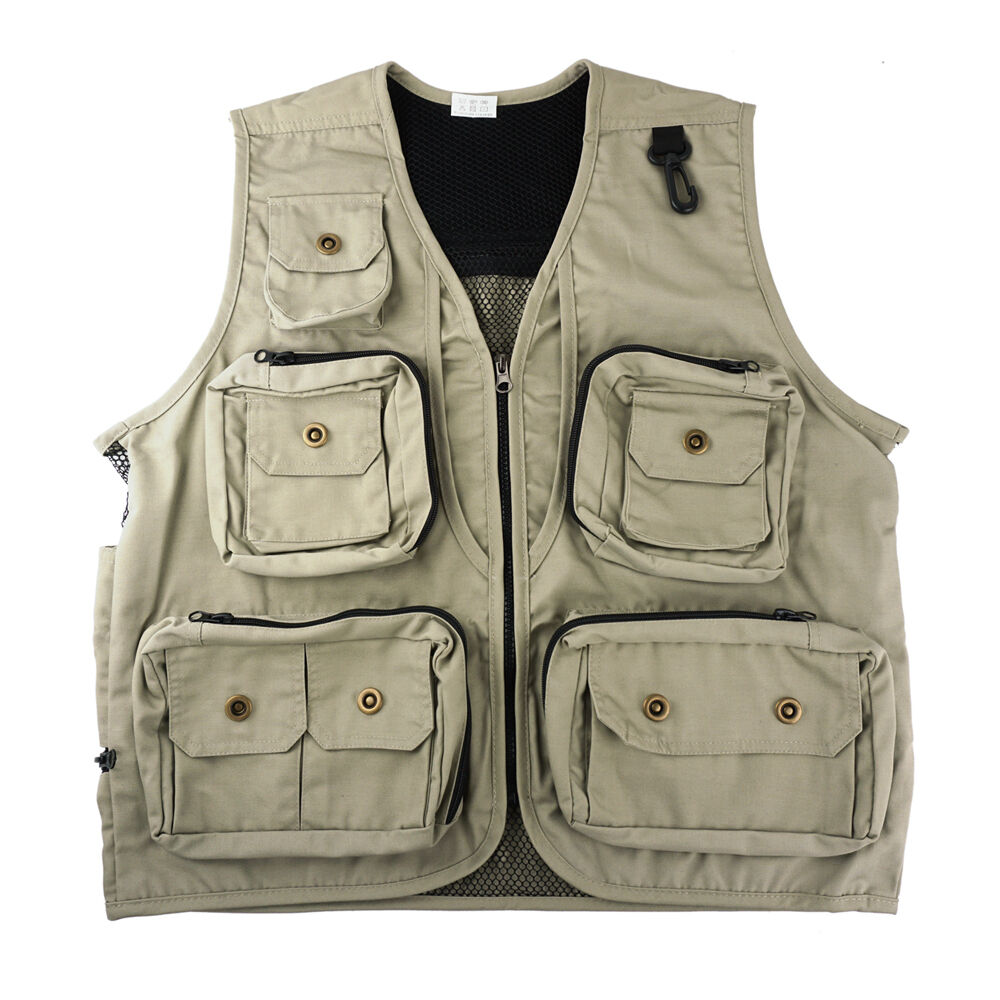 Safari Photo Vest Reisen Wandern Angeln Camping Jagd Direktor Video Vest- L