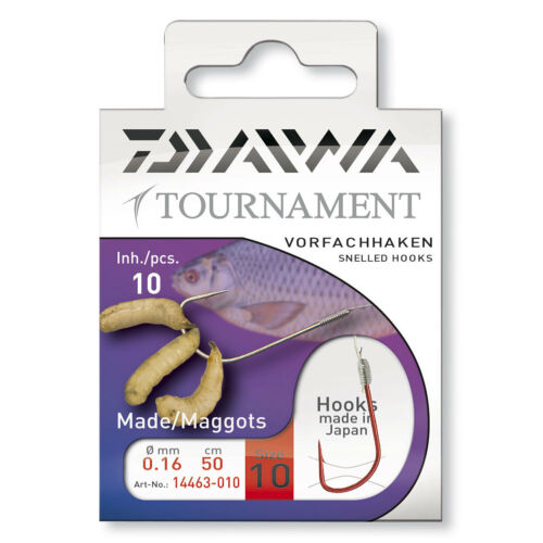 Daiwa Tournament Madenhaken rot Gr.16-10 Stück