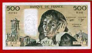 (ref: D.145) 500 Francs Pascal 2/07/1981 (sup) Pylp9vfk-07235209-453591392