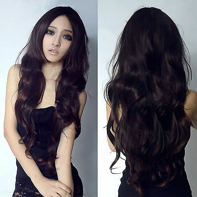 2015 Hot New Fashion Womens Lady Curly Wavy Long Hair Full Wigs Cosplay Party