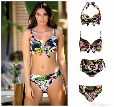 Padded Pour Moi Orchid Luxe Underwired Bikini Top Control Brief or Fold Brief