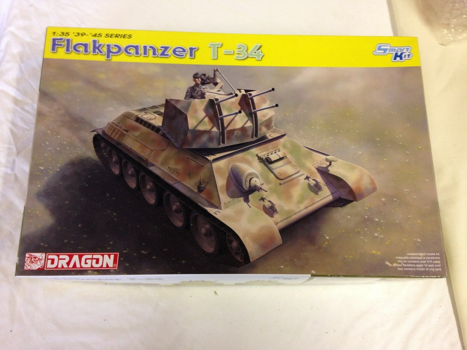 DRAGON  FLAKPANZER T-34  1 35th scale   No 6599  NEW IN BOX