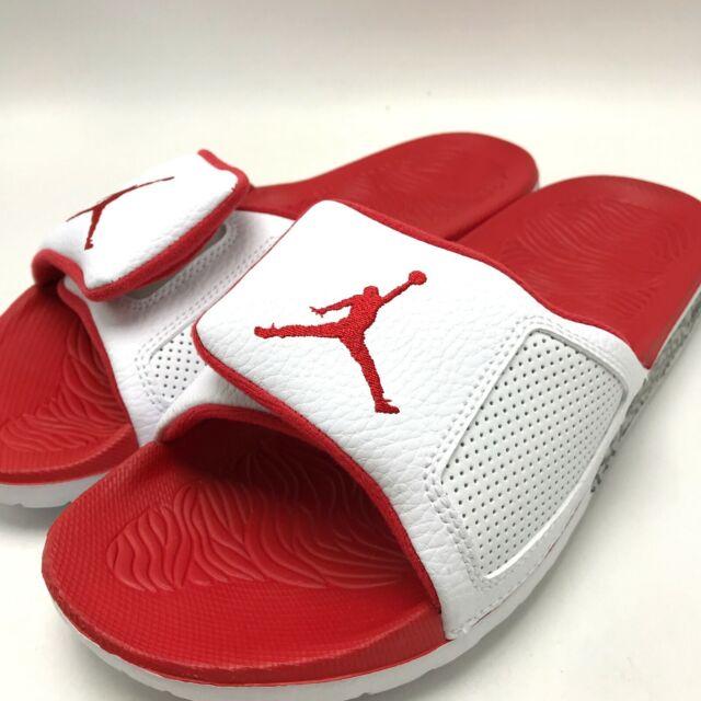 87c500423575 Nike Jordan Hydro III Retro Sandal White   Fire Red - Fire Red 854556-116