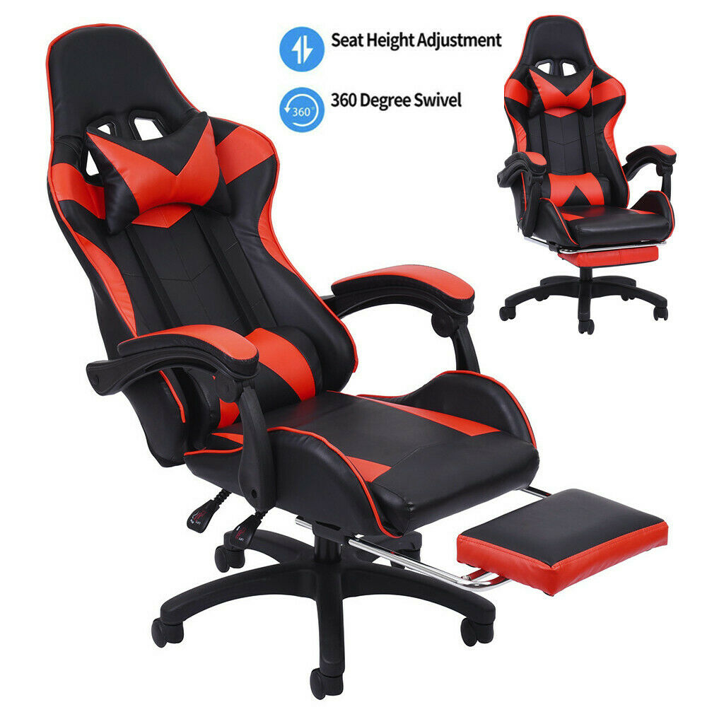Gaming Chair Racing Chair Ergonomic Office Computer Recliner Padded Wide Seat