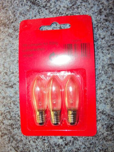 B Topkerze für innen 12 Volt 20er 3 Watt E10 3er Set Weihnachtsbaum Kerzen