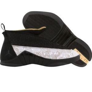 289723cb6c94 317274-071 US 11.0 Nike Air Jordan Men Retro 15 XV LS Black Metallic ...