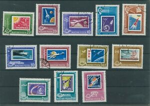 Hongrie-Hungary-1963-Mi-1907-1918-Timbres-Used-Espace-Astronautique-Espace