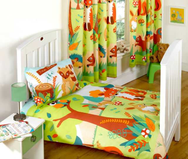 Forest Friends Owls Foxes and Hedgehogs Bedding Duvet Curtains Lighting Range