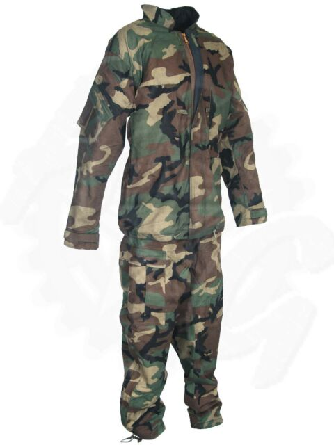 U.S. Military Woodland BDU Camo Scent Locking Protective Suit New Old Stock
