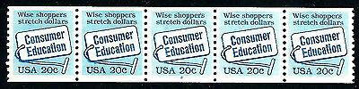 US #2005 ~ Plate #2  // MNH OG Plate Number Coil Strip of 5 [PNC-5] ~ Consumer