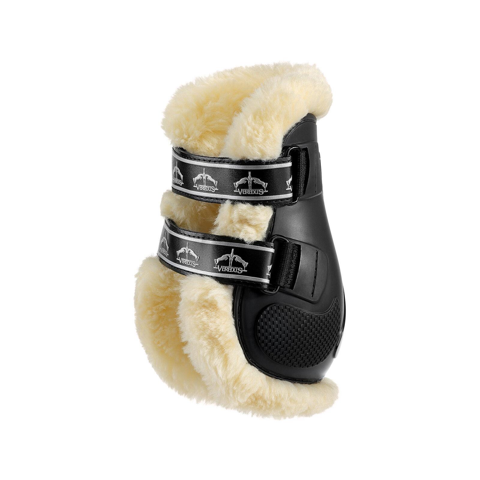 Verojous Pro salto STS piel forrada Touch parpadeo pellizco Menudillo botas Negro Marrón M L