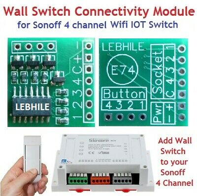 E74 Wall Switch Connectivity Module for Sonoff 4Ch / R2 / Pro Wifi IOT  Switch    9789310248777 | eBay