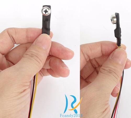 Screw type side face mini spy hidden micro 1000TVL HD Video audio pinhole camera