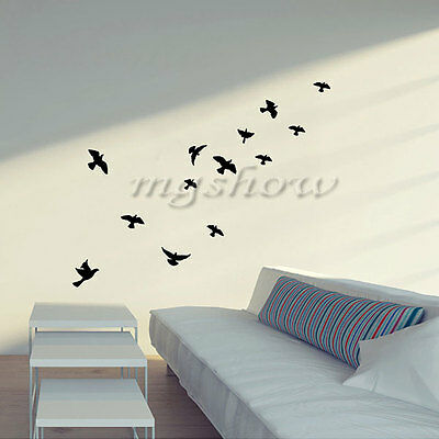 Flying Pigeon Bird Living Room Bedroom Decor Mural Vinyl Wall Stickers  58*30CM