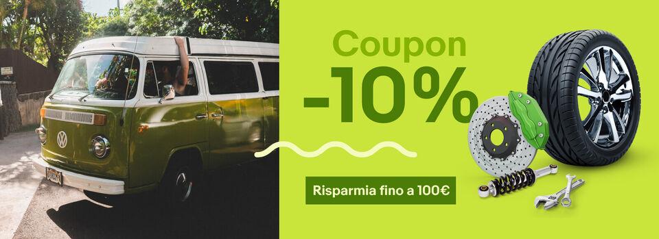 Scopri subito - 10% coupon per i tuoi motori
