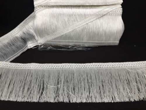 TASSEL TRIM 4INCH WIDE 14 YARDS WHITE FRINGE FULL PACK PRICE
