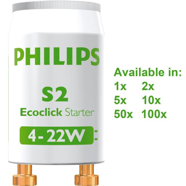 2x 4-22W Fluorescent Tube Strip Light Lamp Starter FSU 2 Pin 220-240V