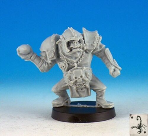 Black Scorpion FF13 Orc Thrower Fantasy Football Player with Ball Quarterback