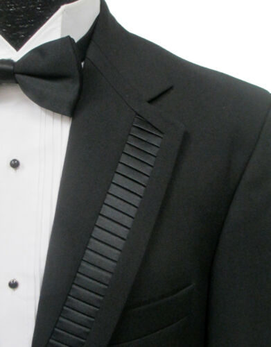 Black Oscar de la Renta Velocity Tuxedo Jacket Formal Wedding Prom Mason Cruise