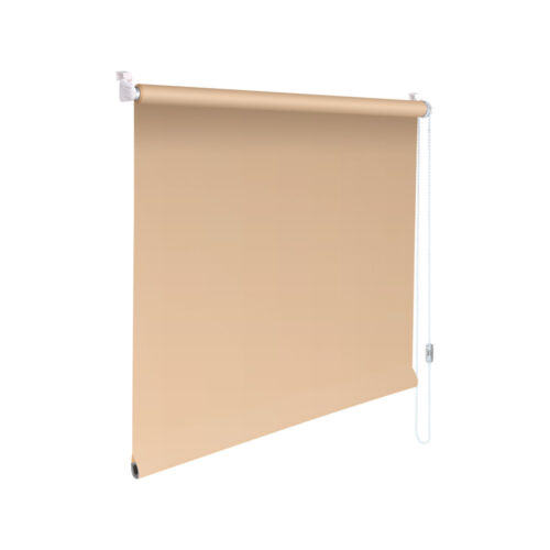 Minirollo Klemmfix Rollo Verdunkelungsrollo Höhe 60 cm beige-karamell