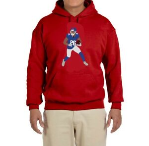 the latest cf8a5 558a8 Details about New York Giants Saquon Barkley Running Hooded sweatshirt