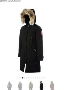 canada goose fur-trimmed kensington down parka
