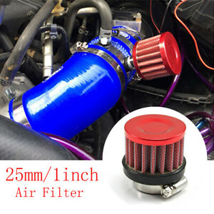 25mm Air Filter For Motorcycle Cold Air Intake High Flow Vent Black Accessory