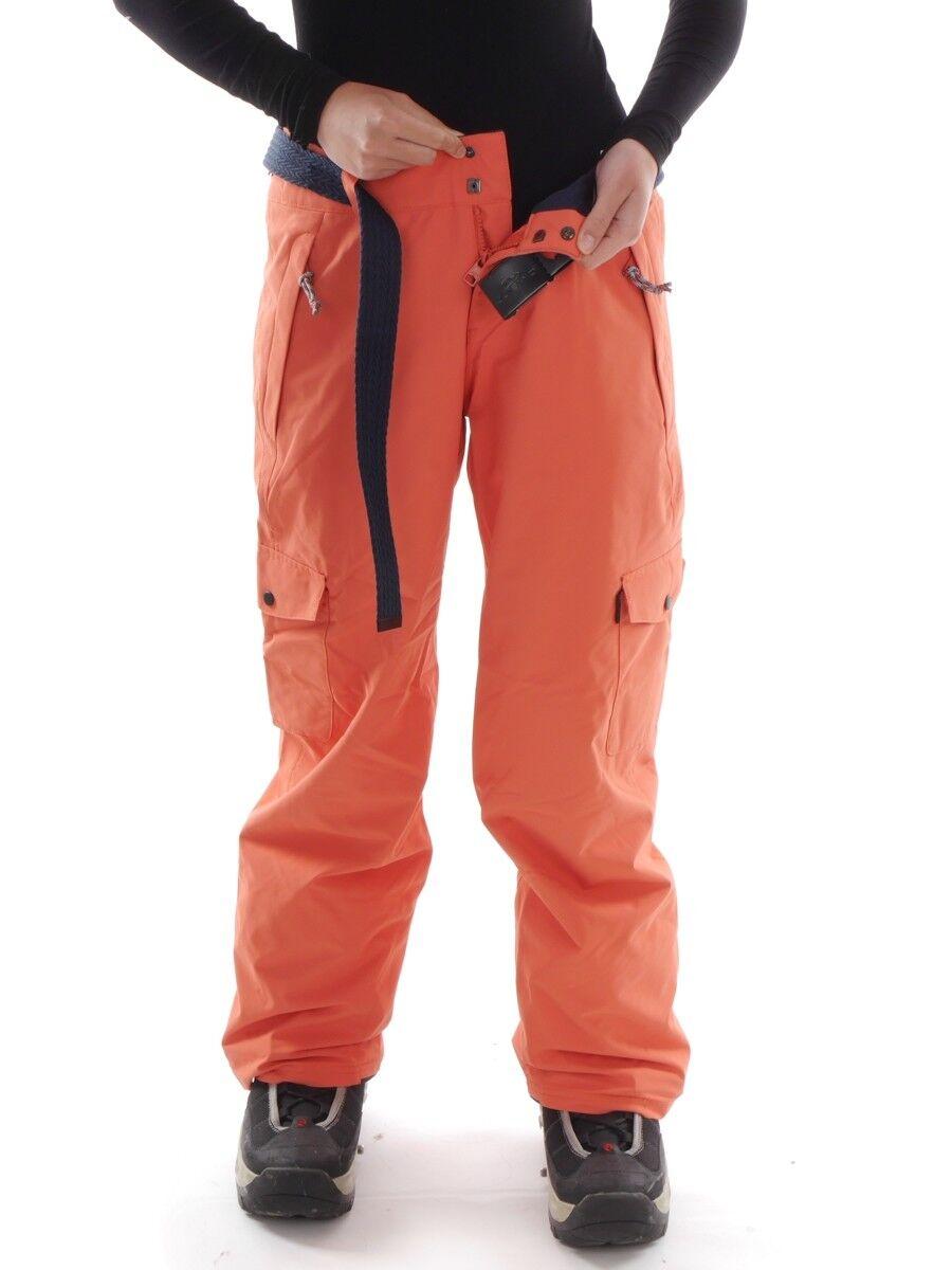 O 'Neill Sci Snowboard Pantaloni Pantaloni Pantaloni Pantaloni caldi STAR CINTURA ARANCIONE IMPERMEABILE d06996