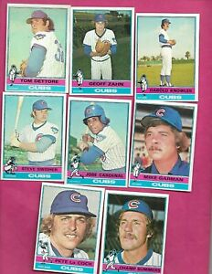 1976-TOPPS-CHICAGO-CUBS-CARD-LOT-INV-C2033