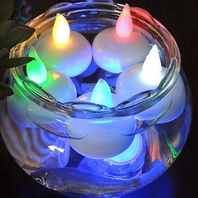 6//12pcs LED Submersible LED Tea Light Candle Flameless Wedding party Decoration