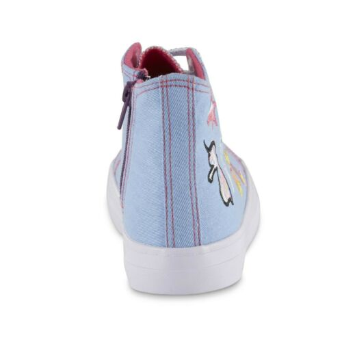 Piper Girls/' High-Top Embroidered Sneaker Black Phoebe or Blue Dena Zip /& Lace