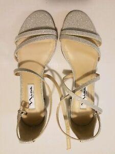 217e027398c9 Nina Women Silver Glitter Dress Shoes - Size 6 - NWT MSRP  79