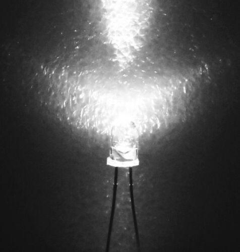 10x LEDs 3mm wasserklar WEIß bis 4.000 mcd *