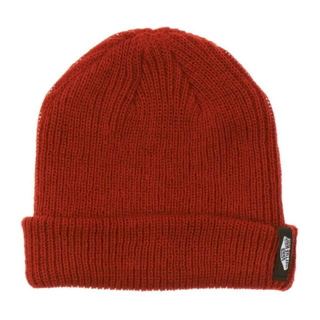 c3121326c179c Vans Off The Wall Mismoedig Beanie Rust Red Cuff Hat 100% Acrylic New NWT