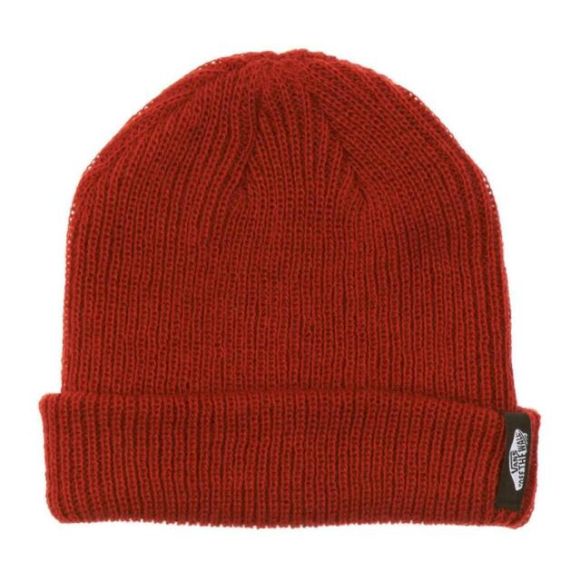 b6a1ad7e39 Vans Off The Wall Mismoedig Beanie Rust Red Cuff Hat 100% Acrylic New NWT
