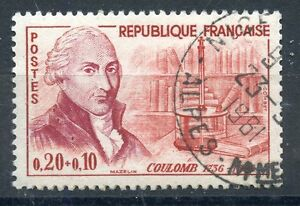 Adaptable Stamp / Timbre France Oblitere N° 1297 Coulomb