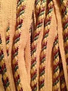 Upholstery-Trim-1-2-034-Sage-Brown-Copper-Gold-Yellow-Cord-ROPE-FABRIC-TRIM-1-Yard