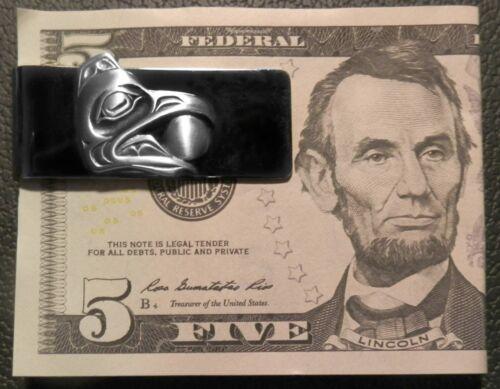 NEW Pewter Salish Designer RAVEN SUN MONEY CLIP Symbol of Knowledge /& Creativity