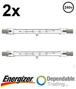 2x-ENERGIZER-400w-500w-118mm-Tube-tungstA-ne-HalogA-ne-Basse-Consommation-R7s
