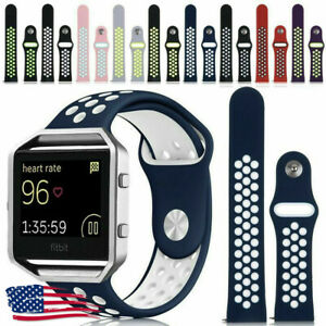 Replacement-Silicone-Sport-Band-Bracelet-Strap-Soft-For-Fitbit-Blaze-with-Frame