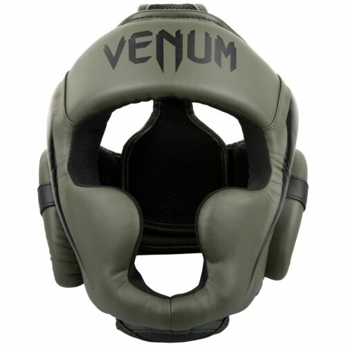 Venum Elite Head Guard Headgear Khaki Thai Boxing Kickboxing Sparring Training